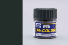 RLM74 Gray Green semigloss, Mr. Color solvent-based paint 10 ml. (RLM74 Серо-Зелёный полуматовый)