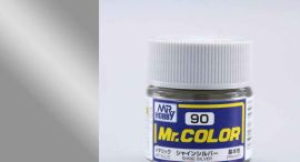 Shine Silver metallic, Mr. Color solvent-based paint 10 ml. (Сияющее Серебро металлик)