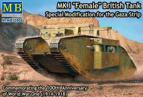 обзорное фото BRITISH MK.I FEMALE TANK SPECIAL MODIFICATION FOR THE GAZA STRIP Бронетехника 1/72