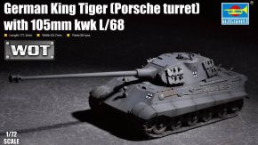 обзорное фото German King Tiger (Porsche turret) with 105mm kwk L/68 Бронетехника 1/72