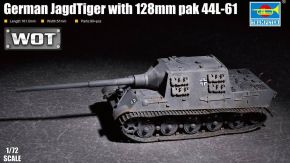обзорное фото German JagdTiger with 128mm pak 44L-61 Бронетехника 1/72