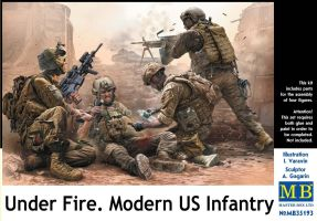 "обзорное фото ""Under Fire. Modern US Infantry""   Фигуры 1/35"