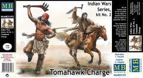 "обзорное фото ""Indian Wars Series, kit No. 2. Tomahawk Charge""          Фигуры 1/35"