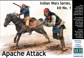 "обзорное фото ""Indian Wars Series, kit No. 1. Apache Attack""        Фигуры 1/35"