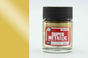 обзорное фото Super Gold metallic Mr. Super Metal Color solvent-based paint 18 ml. Металлики и металлайзеры