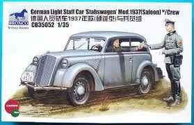 обзорное фото German Light Staff Car 'Stabswagen' Mod.1937 (Saloon) w/crew Автомобили 1/35