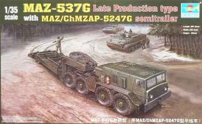MAZ-537G Late Production type with MAZ/ChMZAP-5247G semitraiier