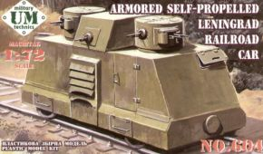 обзорное фото Armored self-propelled Leningrad railroad car  Бронетехника 1/72