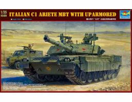Italian C1 Ariete MBT with uparmored