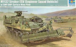 M1132 Stryker Engineer Squad Vehicle w/SMP-Surface Mine Plow/AMP