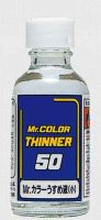 обзорное фото Mr. Color Solvent-Based Paint Thinner, 50 ml. Растворители