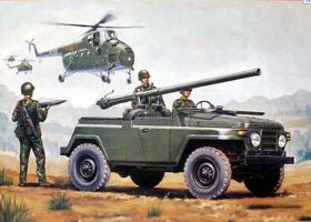 Chinese BJ212A  jeep w/105mm Type 75 Recoilless Rifle