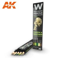 обзорное фото Watercolor pencil set Green and Brown Weathering