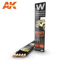 Watercolor pencil set Rust and Streaking