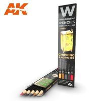 обзорное фото Watercolor pencil set Chipping and aging Weathering