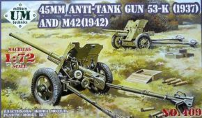 обзорное фото 45mm Antitank guns 53-K (1937) and M42 (1942) Артиллерия 1/72