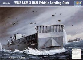 обзорное фото WW2 LCM 3 USN Landing Craft Флот 1/72
