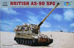 British AS-90 self-propelled howitzer