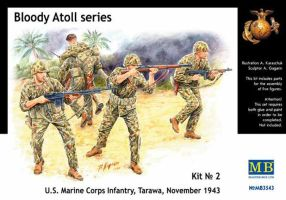 "обзорное фото ""Bloody Atoll series. Kit No 2"", US Marine Corps Infantry, Tarawa, November 1943. Фигуры 1/35"