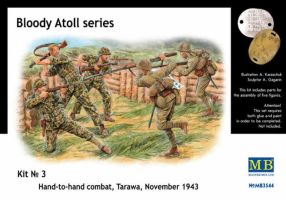"обзорное фото ""Bloody Atoll series. Kit No 3"", Hand-to-hand combat, Tarawa, November 1943. Фигуры 1/35"