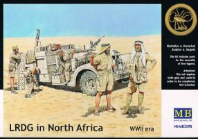 "обзорное фото ""LRDG in North Africa, WWII era""                                                                     Фигуры 1/35"