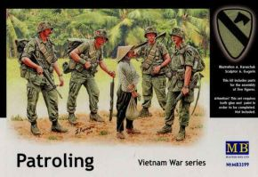 "обзорное фото ""Patroling. Vietnam War series""                                                                      Фигуры 1/35"