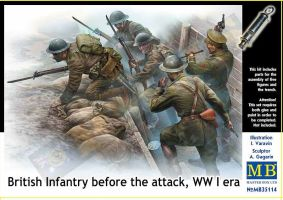 "обзорное фото ""British Infantry before the attack, WWI era""          Фигуры 1/35"