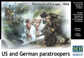 "обзорное фото ""US and German paratroopers, the South of Europe, 1944"" Фигуры 1/35"
