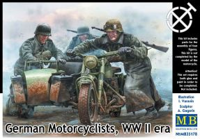 "обзорное фото ""German Motorcyclists, WWII era""  Фигуры 1/35"