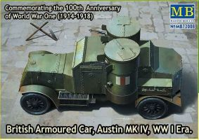 "обзорное фото ""British Armoured Car, Austin, MK IV, WW I Era"" Бронетехника 1/72"