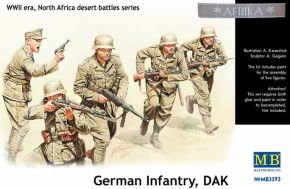 обзорное фото  German Infantry DAK,WWII, North Africa desert Battles Serie Фигуры 1/35