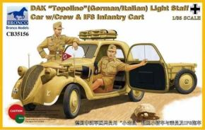 "обзорное фото DAK ""Topolino""(German-Italian)Light Staff Car w/Crew & IF8 Infantry Cart Автомобили 1/35"