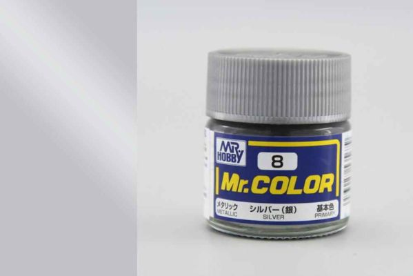 preview Silver metallic, Mr. Color solvent-based paint 10 ml.(Серебро металлик)