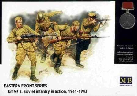 Eastern Front Series. Kit № 2. Soviet Infantry in action , 1941-1942 детальное изображение Фигуры 1/35 Фигуры