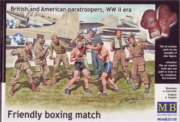 """Friendly boxing match. British and American paratroopers, WW II era"" детальное изображение Фигуры 1/35 Фигуры"