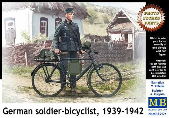 """German soldier-bicyclist, 1939-1942"" детальное изображение Фигуры 1/35 Фигуры"